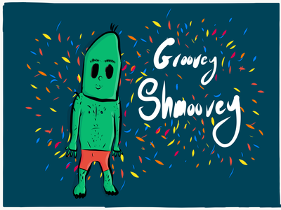 Groovey Shmoovey Zombey freestyle hand drawn hand drawing ipad illustrator draw