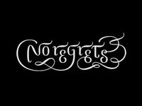 """""""No regrets"""" tattoo"""