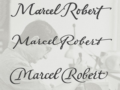 Marcel Robert  calligraphy lettering logo