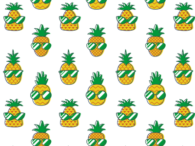 Stylish Pineapples Pattern sunglasses fruits fresh tropical print design print pattern design pattern pineapple vector art character design illustration