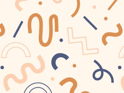 shapes + noodles rebrand pattern illustration graphic memphisdesign patterndesign