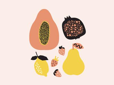 fruit + composition organic graphic design shapes illustration fruit