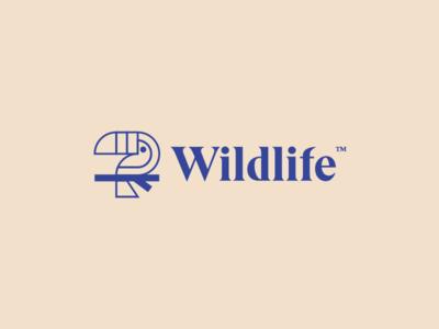 wildlife logo cream blue logo graphicdesign design type toucan wildlife wildlifelogo thirtylogos thirtydaysoflogos