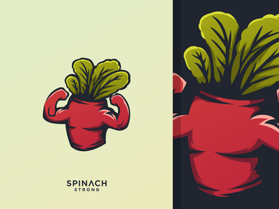 spinach strong illustrator sport branding design character mascot animal icon illustration brand