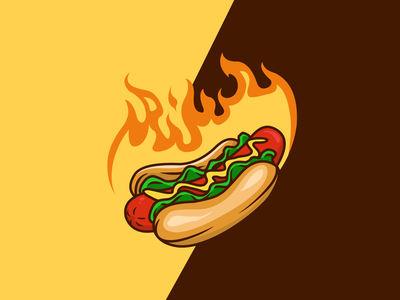 HOT DOG branding design identity mark character icon animal mascot illustration brand logo