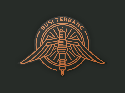 Busi Terbang luxury logo illustrator icon design graphic creative coreldraw contracting identity brand artwork