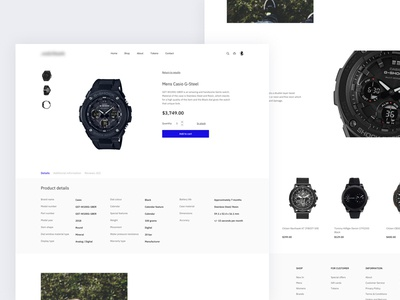 Watches shop product page
