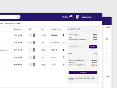 SaaS panel ux ui interface app clean design minimal dashboard panel saas shop ecommerce