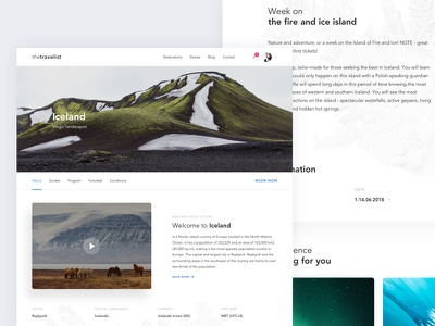 Travel concept subpage world website ux ui travel search photography minimal landing interface design clean