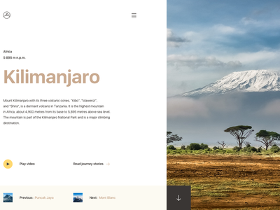 Seven Summits animation website ux ui travel search mountains minimal landing interface design clean