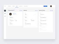 CV settings panel