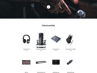Music landing page web white art shop music store flat website landing design ui ux minimal clean