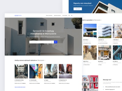 Property main page minimal clean white website web ux ui real estate property home page landing homepage home design