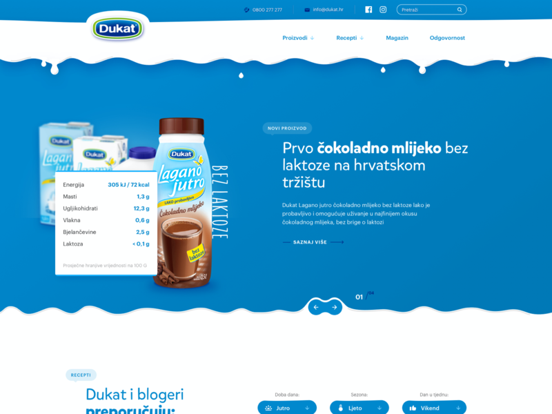 Improving local websites as exercise (Part 2) milk dairy homepage corporate clean landing website web
