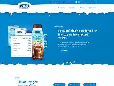 Improving local websites as exercise (Part 2) milk dairy homepage corporate clean landing website web