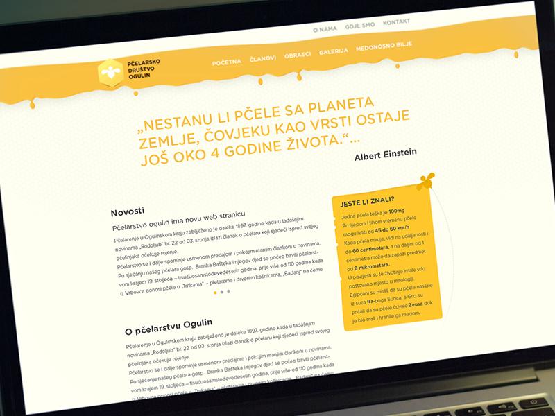 Website for a Beekeeping Association bee honey website landing web ui warm