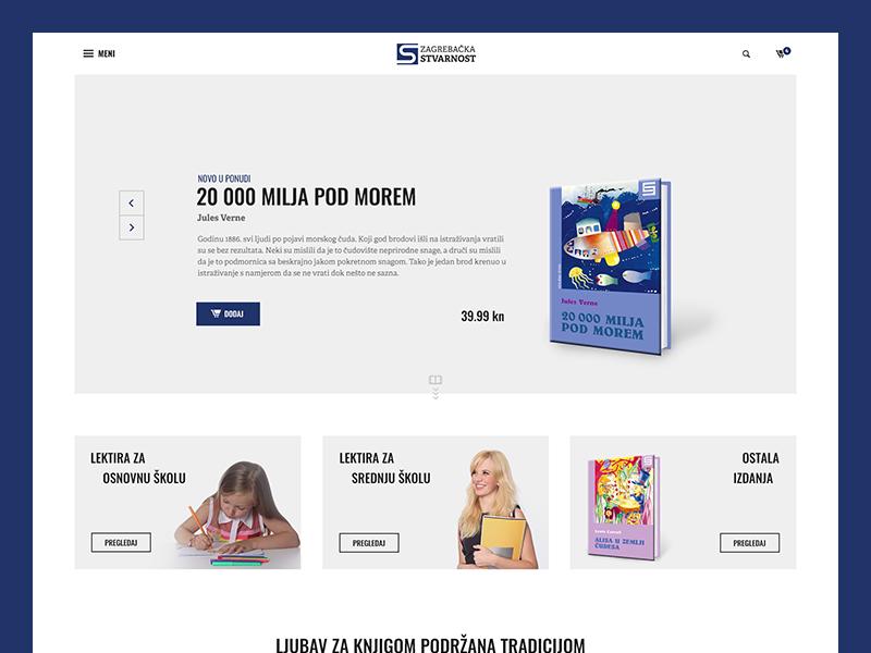 Zagrebačka stvarnost full screen corporate company publishing white clean website web