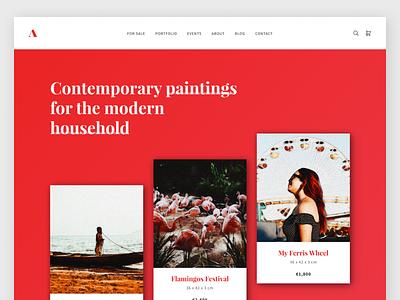 Artist Wordpress Theme personal artist art wordpress design wordpress landing website web