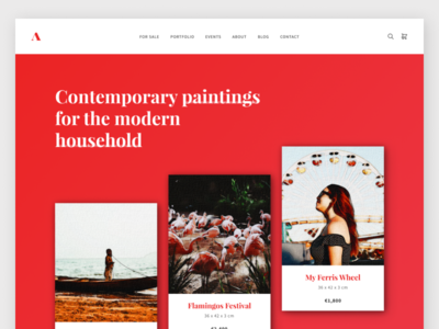 Artist Wordpress Theme personal artist art wordpress design wordpress landing website web