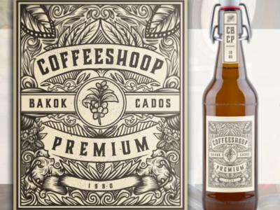 Coffee shoop branding illustrator vintage logo
