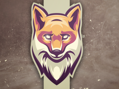 fox head logo brand esports games vector designs design illustration logo character logo logo designs wolf fox