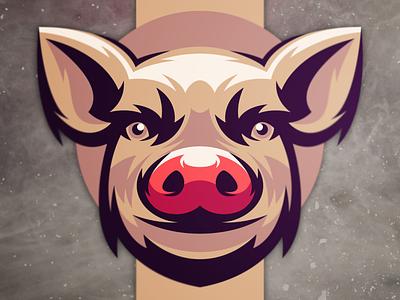 pig logo esports skull brand vector design branding illustration designs logo procreate pig logo pig