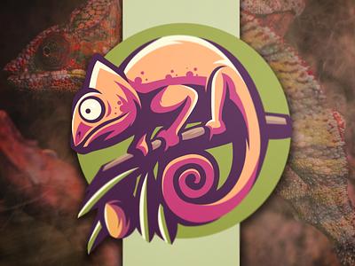 chameleon illustration sports games esports flame brand skull branding designs video character logo vector logo chameleon logo chameleon