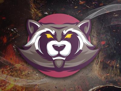 racoon illustration design flame fire esports brand skull branding designs logo racoon