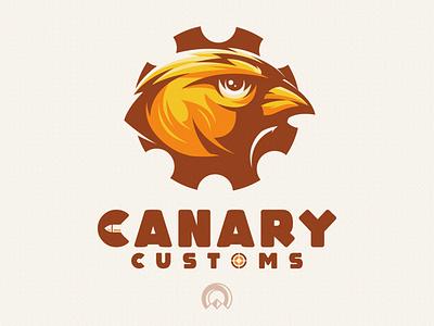 Canary sports vector esports brand skull branding designs logo illustration new bird canary
