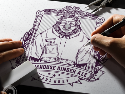 Ginger ale games design flame illustration esports brand skull branding designs logo