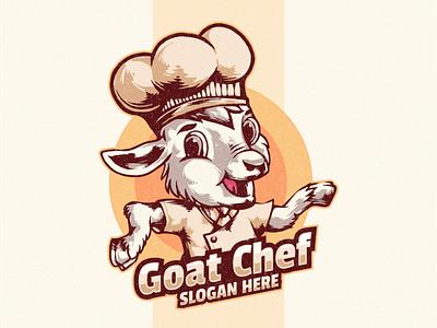 goat chef logo flame illustration design vector brand skull branding designs logo graphic design goat logo