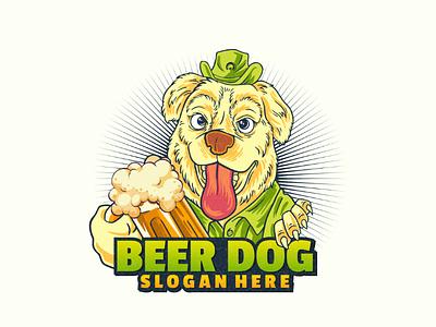 Beer dog vector beer beerdog doglogo