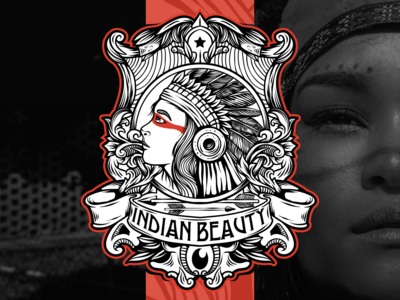 Indian Beauty vintage logo
