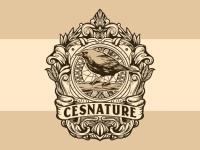 Cesnature vintage logo