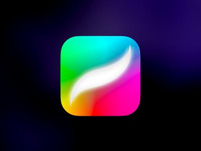 Procreate Rainbow Redesign app icon ios procreate