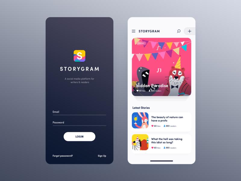 Simple mobile app iphonex mobile app ui design