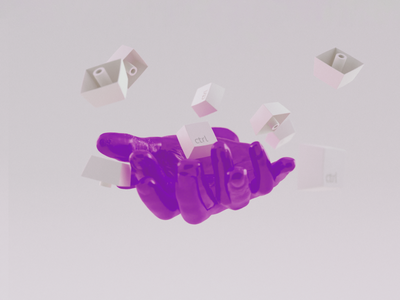 lost control keyboard hand design vectary 3d punk vectary illustration surrealism digitalart render 3d