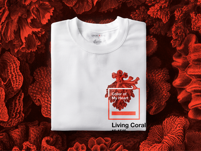 Coral Of My Heart coral pantone living coral illustration design art print threadless