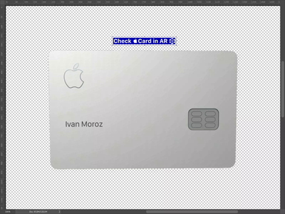 Apple Card experiment 3d card apple augmented reality