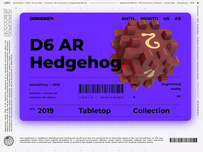 D6 AR Hedgehog sempice product design 3d futurism showcase ui design game animation cyberpunk brutalism demo website web dice boardgame tabletop augmented reality