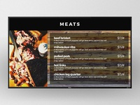 BBQ Menu Digital Signage
