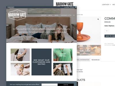 Narrow Gate Trading Co. E-Commerce Site flat ui minimalist e-commerce