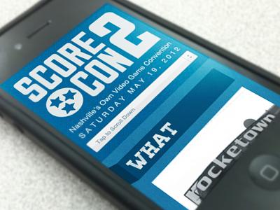 ScoreCon 2 Mobile Site mobile responsive convention blue css media queries texture iphone