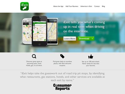iExit Website Design app iphone website green web iexit design responsive responsive design