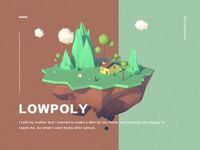 Low poly Scene illustration