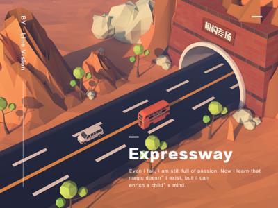 Expressway low poly