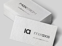 Maxstrom Business Cards Letterpress