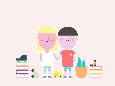 KIDS kids vector illustration