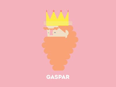 King Gaspar portrait design illustration