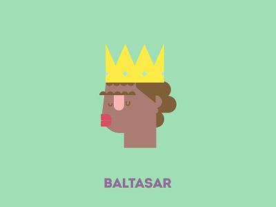 King Baltasar portrait design illustration